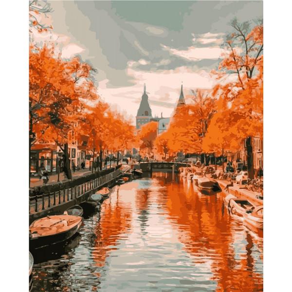 "Картина по номерам ""Вид на реку. Амстердам"""