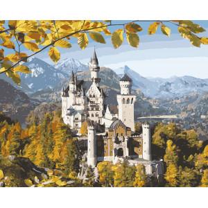 """Картина по номерам """"Замок в горах"""""""