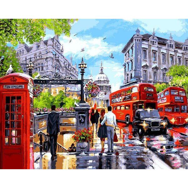 """Картина по номерам """"Весна в Лондоне"""""""