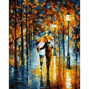 """Картина по номерам """"Зонтик для двоих"""""""