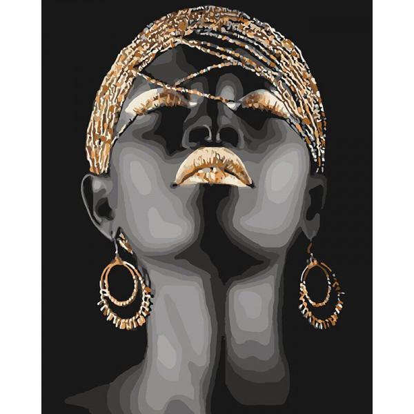 """Картина по номерам """"Африканская принцесса"""""""
