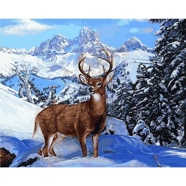 """Картина по номерам """"Благородный олень"""""""