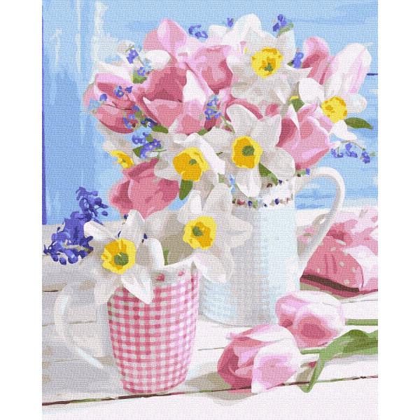 """Картина по номерам """"Весенние цветы"""""""