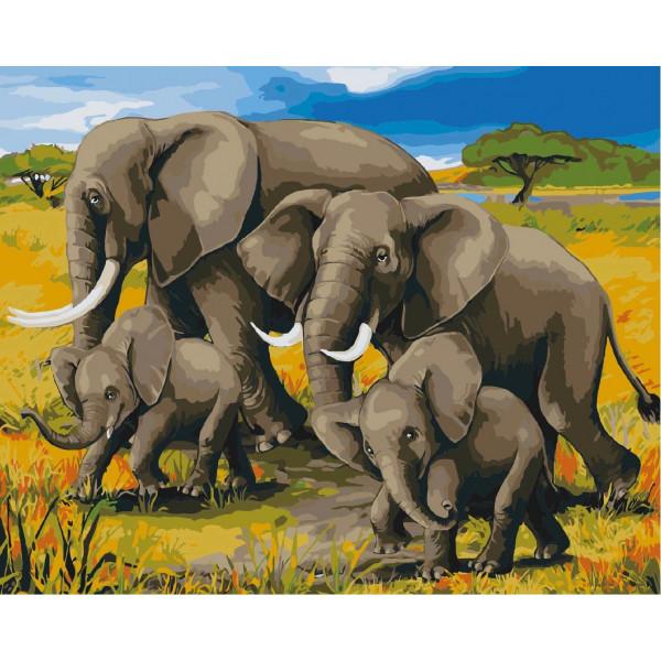 """Картина по номерам """"Африканский полдень"""""""