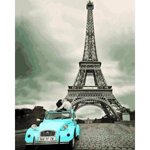 """Картина по номерам """"Авто у Эйфелевой башни"""""""