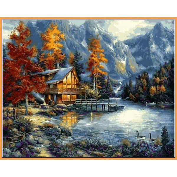 """Картина по номерам """"Дом в горах"""""""