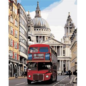 """Картина по номерам """"Лондонский автобус"""""""