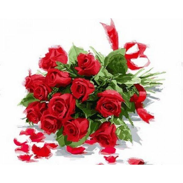 """Картина по номерам """"Букет алых роз"""""""