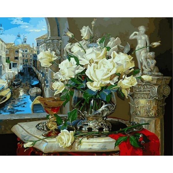 """Картина по номерам """"Венецианские розы"""""""