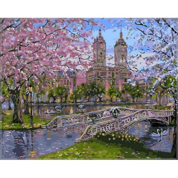 """Картина по номерам """"Весна в парке"""""""
