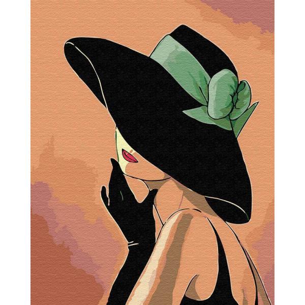 "Картина по номерам ""Дама в шляпе"""