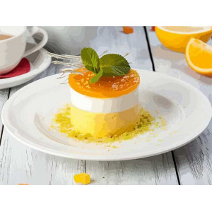 """Картина по номерам """"Апельсиновый десерт"""""""