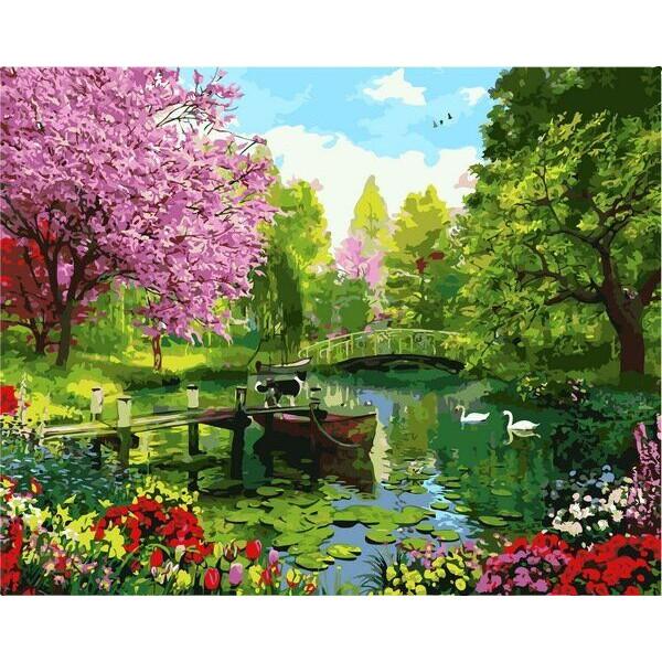 "Картина по номерам ""Вишневый сад"""