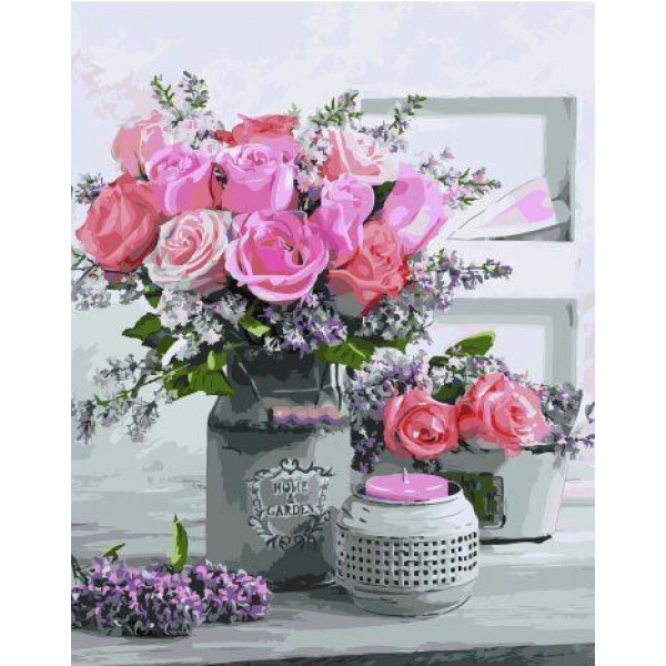 """Картина по номерам """"Аромат роз"""""""