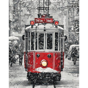 "Картина по номерам ""Волшебный трамвайчик"""