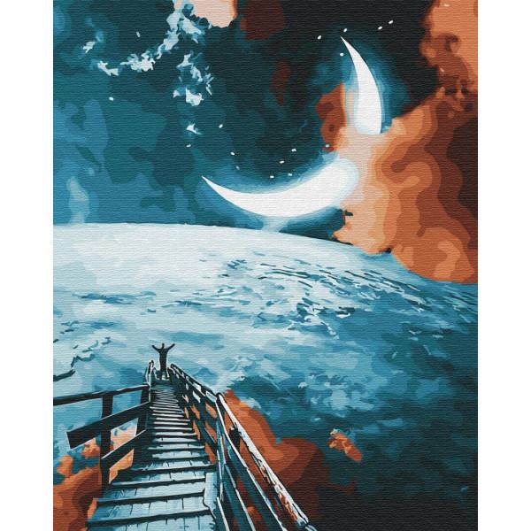 "Картина по номерам ""Дорога на луну"""