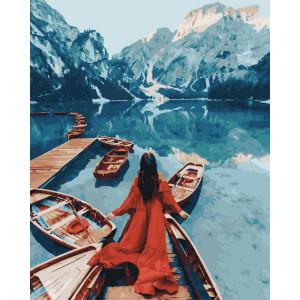 """Картина по номерам """"Альпийский причал"""""""