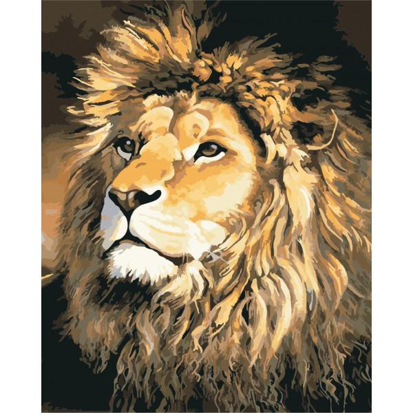 """Картина по номерам """"Гордый лев"""""""