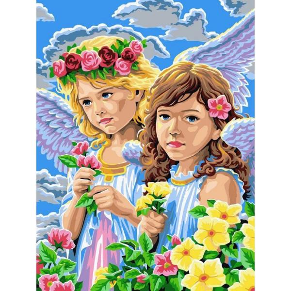 """Картина по номерам """"Девочки-ангелы"""""""