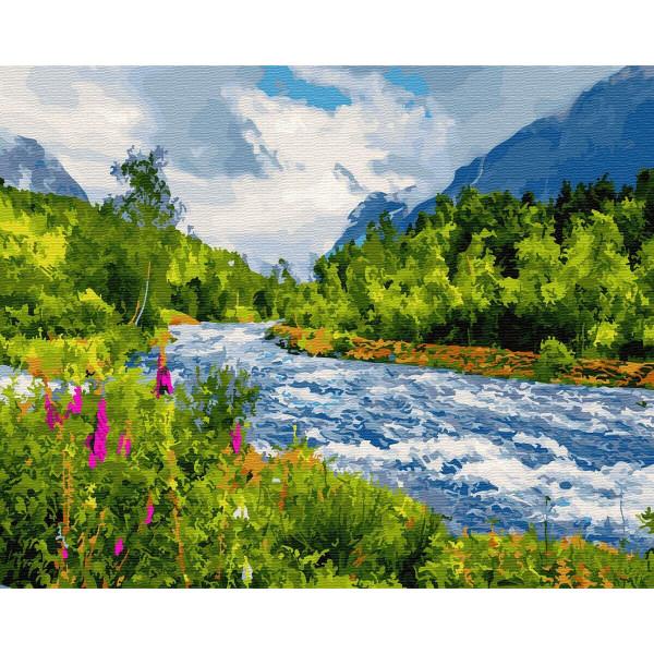 """Картина по номерам """"Бурная река"""""""