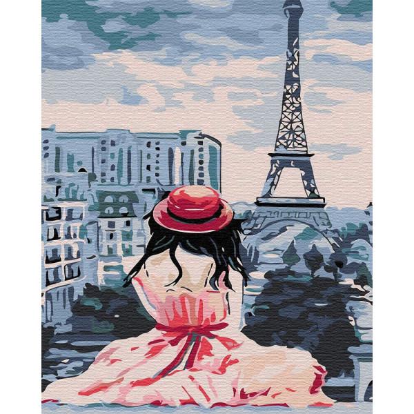 """Картина по номерам """"Девушка в Париже"""""""