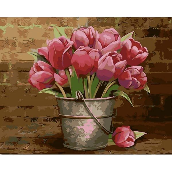 """Картина по номерам """"Букет розовых тюльпанов"""""""