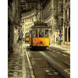 """Картина по номерам """"Жёлтый трамвай"""""""