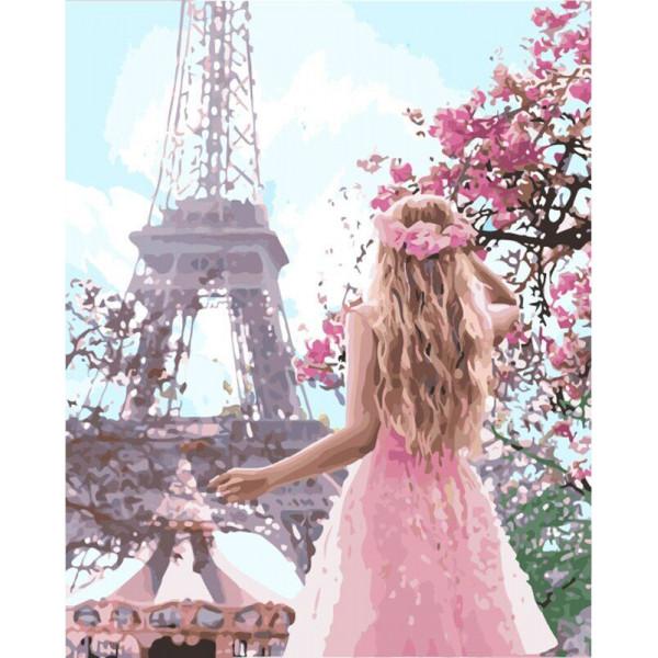 """Картина по номерам """"Влюблённая в Париж"""""""