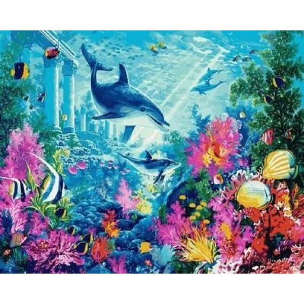 """Картина по номерам """"Водный мир"""""""