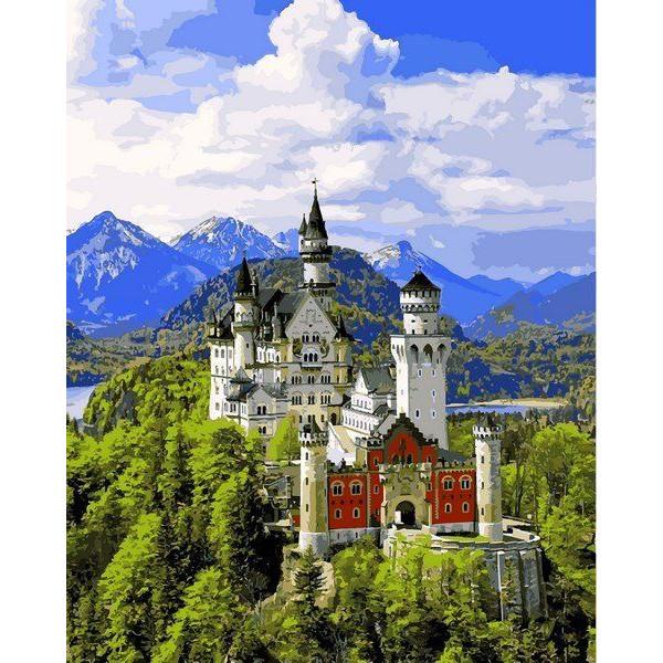 """Картина по номерам """"Вид на замок Нойшвайнштайн"""""""