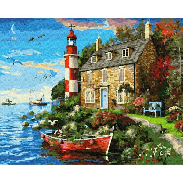 """Картина по номерам """"Дом смотрителя маяка"""""""