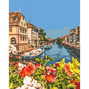"Картина по номерам ""Французский городок"""