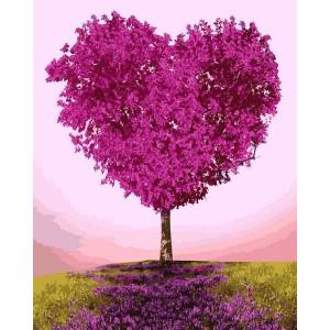 """Картина по номерам """"Дерево-сердце"""""""