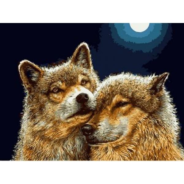 """Картина по номерам """"Волчья нежность"""""""