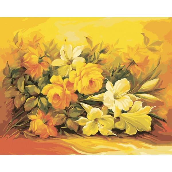 """Картина по номерам """"Букет в желтом цвете"""""""