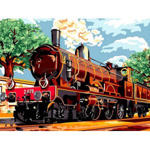 """Картина по номерам """"Поезд из прошлого"""""""