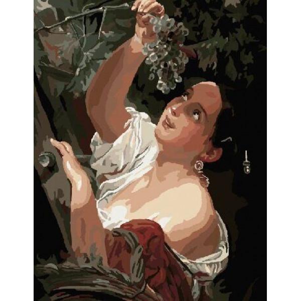"Картина по номерам ""Женщина эпохи барокко"""