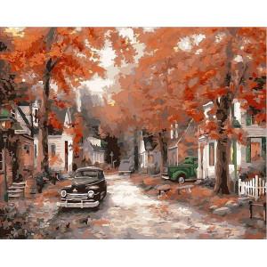 """Картина по номерам """"Осень на кленовой улице"""""""