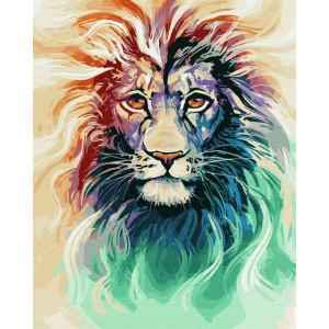 """Картина по номерам """"Акварельный лев"""""""