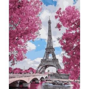 "Картина по номерам ""Магнолия в Париже"""