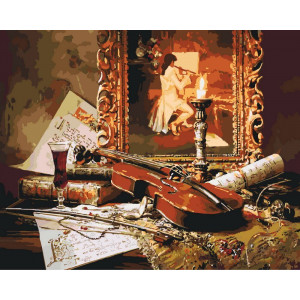 """Картина по номерам """"Волшебная музыка скрипки"""""""