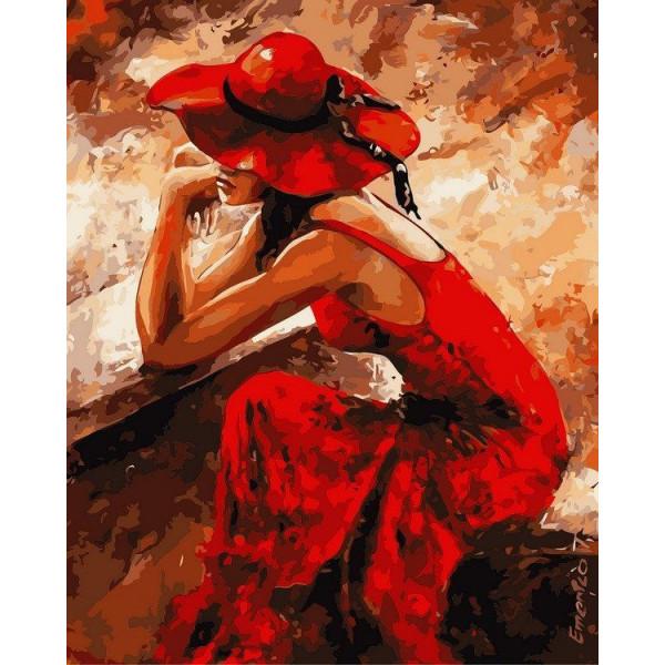 """Картина по номерам """"Женщина в красном"""""""