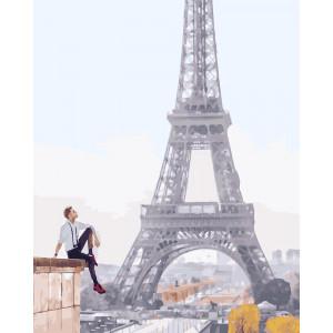 """Картина по номерам """"Его парижские мечты"""""""