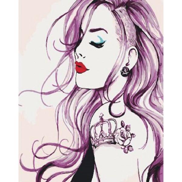 """Картина по номерам """"Девушка с татуировкой"""""""