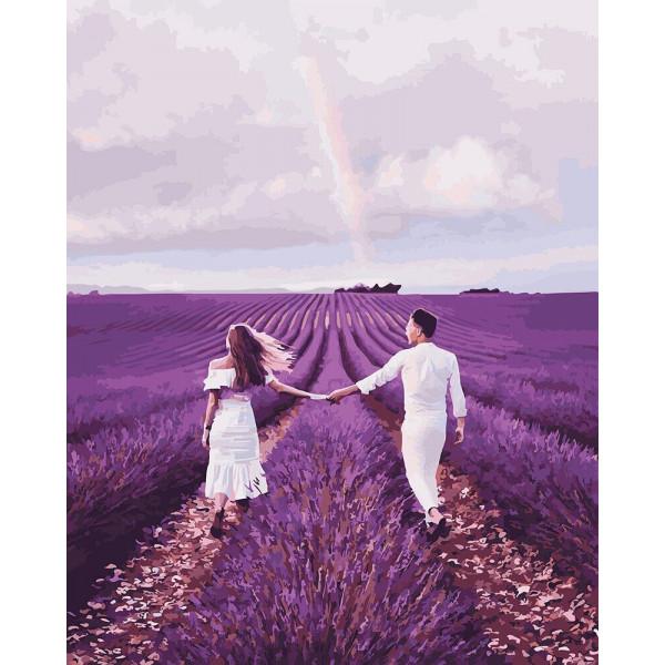 """Картина по номерам """"Влюблённые на лавандовом поле"""""""