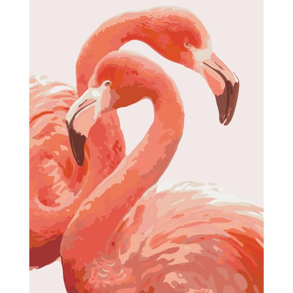 "Картина по номерам ""Грация фламинго"""