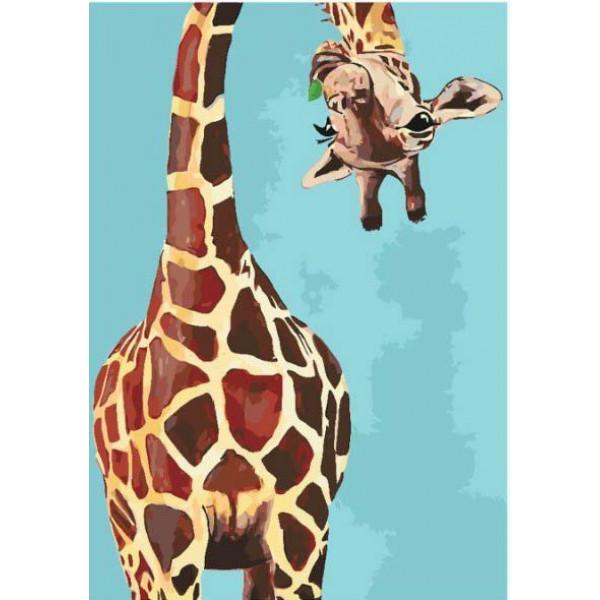 "Картина по номерам ""Весёлый жираф"""