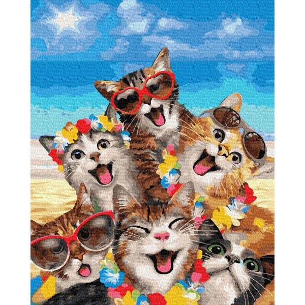"Картина по номерам ""Весёлые кошки"""