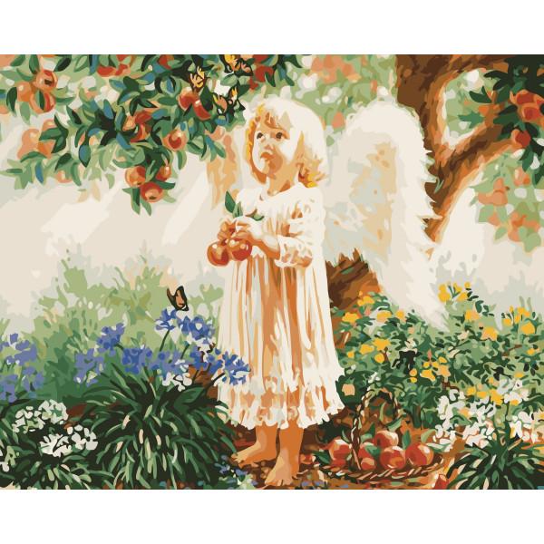 """Картина по номерам """"Ангелочек"""""""