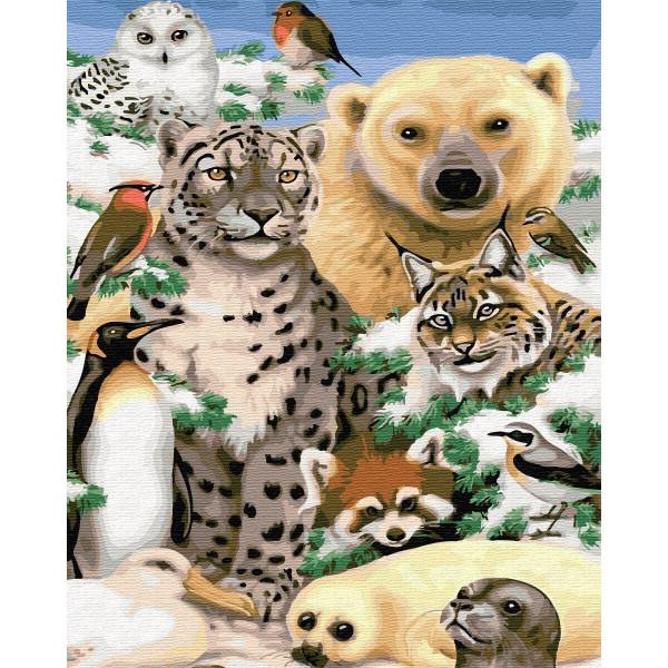 """Картина по номерам """"Животные Антарктиды"""""""